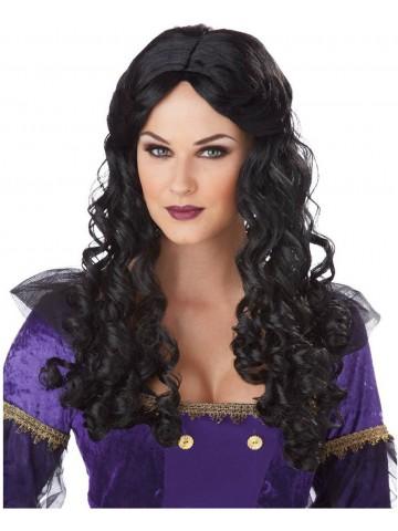 Парик темноволосой принцессы ренессанса