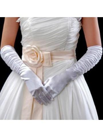 Перчатки белые со сборкой
