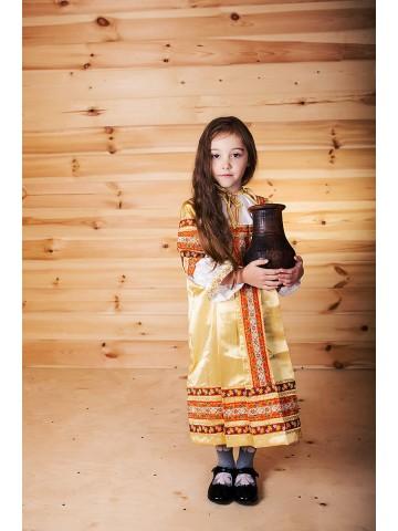 Народный золотой сарафан для девочки