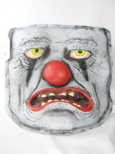 Декоративное лицо страшного клоуна