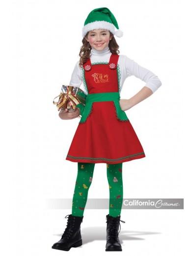 Детский костюм эльфочки санты