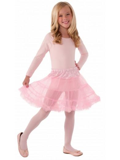 Детский розовый подъюбник