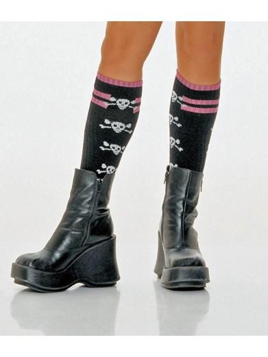 Длинные носки с черепами