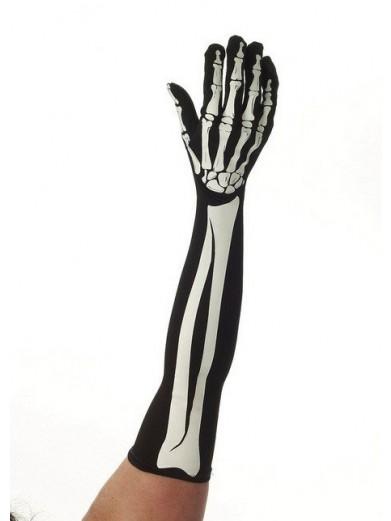 Длинные перчатки скелета