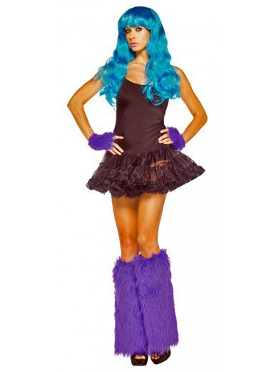 Фиолетовые гетры с перчатками