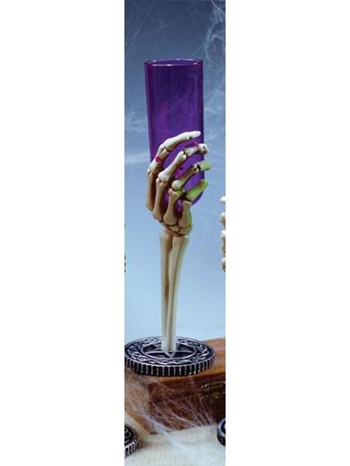 Фиолетовый бокал Рука скелета