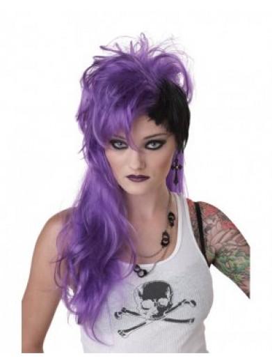 Фиолетовый панк парик