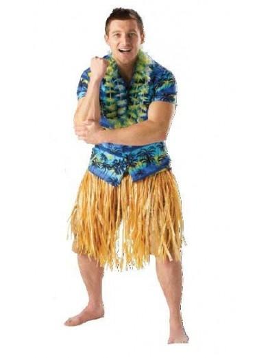 Гавайская бежевая юбка
