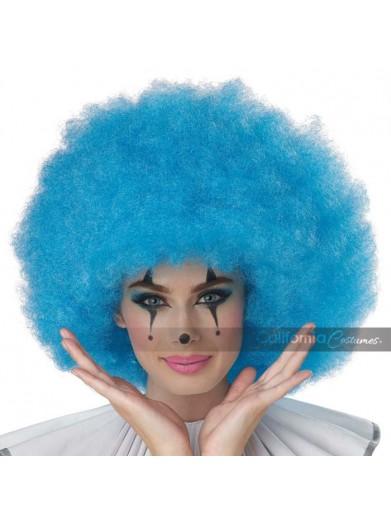 Голубой парик клоуна