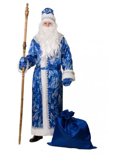 Костюм синего узорного Деда Мороза