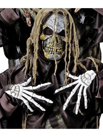 Маска и перчатки злобного скелета