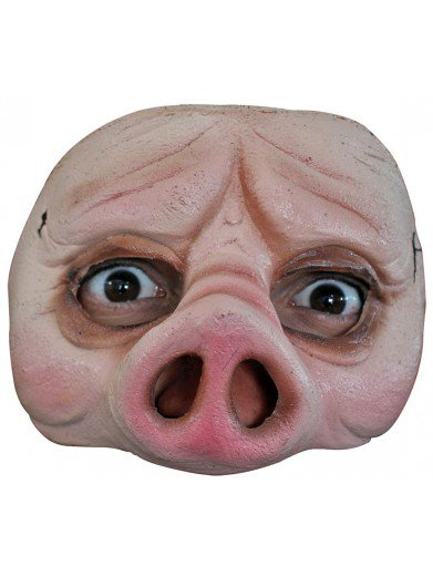 Маска свиньи на пол лица
