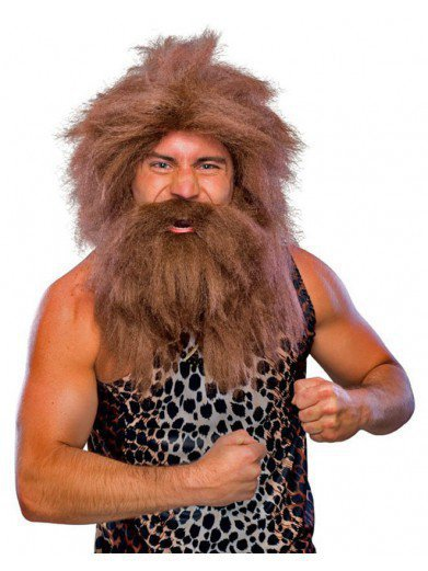 Парик и борода первобытного человека