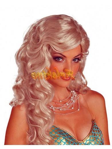Парик русалки блондинки
