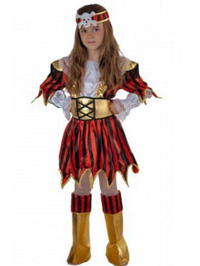 Костюм пирата для девочки