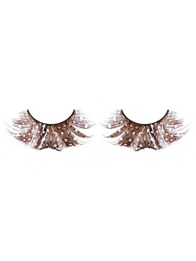 Ресницы перьевые - каштановые бабочки