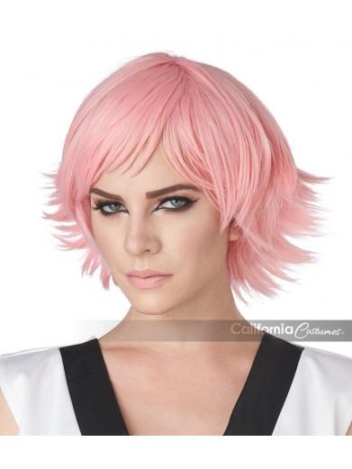 Розовый парик для косплея