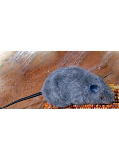 Серая плюшевая крыска 15 см