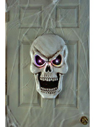 Светящийся череп на дверь 50 см