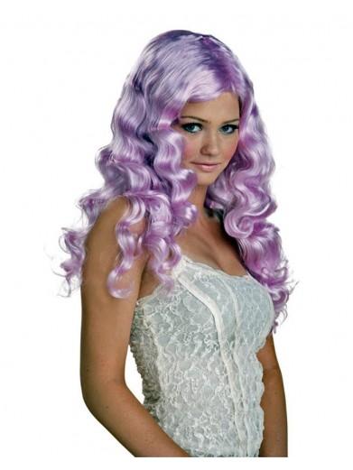 Светло-лиловый парик с кудряшками