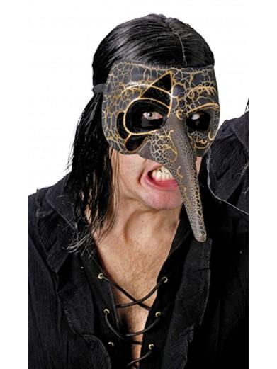 Венецианская коричневая маска ворона