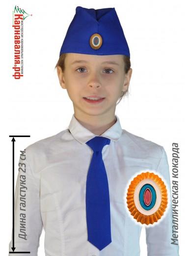 Военный набор детский пилотка и галстук
